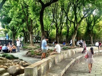 Thoroughfare near the Bund, Shanghai